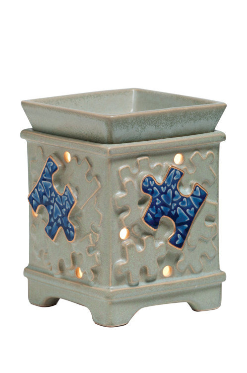 "Light it up Blue for Autism Speaks! ~""Piece by Piece"" Scentsy Cause Warmer for Autism Speaks~"