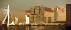 DLVS is celebrating the Pitch Victory…. De Rotterdam by Rem Koolhaas / OMA DLVS is very proud to have won the pitch for the very prestigious project De Rotterdam by Rem Koolhaas / OMA. With the world population at more than 6.8 billion people, space is at an all time premium. Visionary Rem Koolhaas introduces the vertical city that offers a variety of functions and services. De Rotterdam is currently the largest construction project in the Netherlands. De Rotterdam's prime location at the Wilhelminapier places it at the epicenter of the architecture district, one of Rotterdam's fastest growing residential neighborhoods, and home to world-class cultural venues, theaters and fine dining. De Rotterdam includes luxury apartments, offices, a four star hotel, shops, a health club, cafes and restaurants. The apartments are very luxurious and have spectacular views over the docks, the Erasmus Bridge and the city of Rotterdam. De Rotterdam makes smart use of renewable energy. De Rotterdam will be completed in 2013. DLVS will provide all strategy, design & marketing activities for the residential tower. Client: Amvest