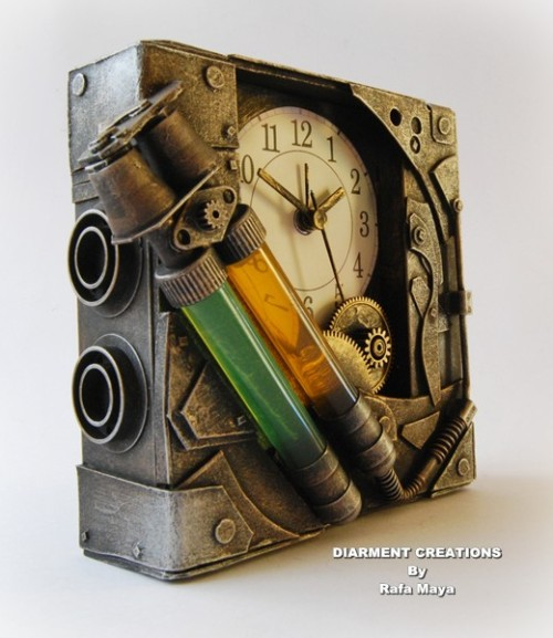 pandrewshaner:  Steampunk Bicomponent Clock by *Diarment