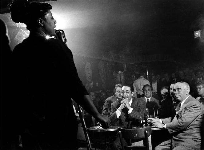 Ella Fitzgerald, Duke Ellington and Benny Goodman, New York, 1948