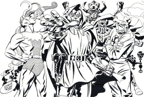 comicbookartwork:  Steve Rude: Bring On The Bad Guys