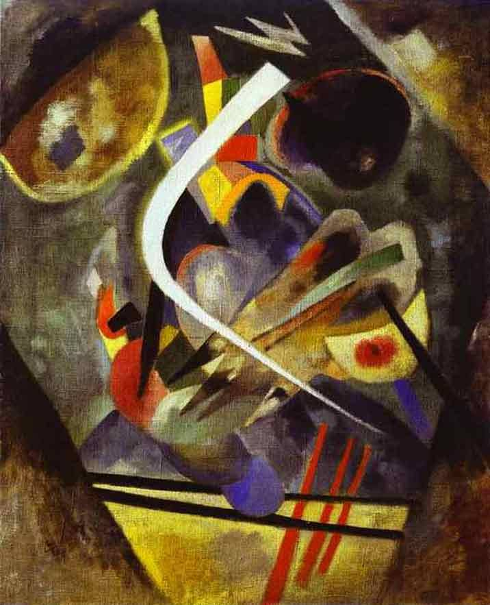 White Stroke. 1920. Oil on canvas.