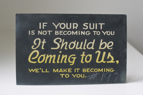 putthison:  honorthytailor:  If your suit is not becoming to you, it should be coming to us… -Honor Thy Tailor  This is wise advice.