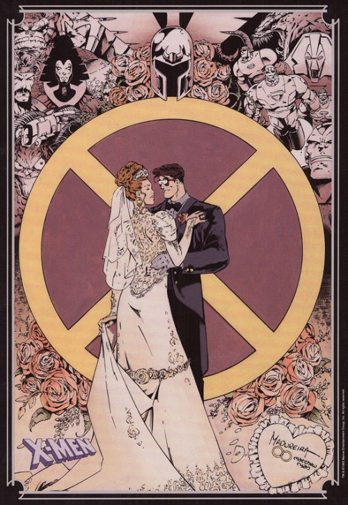 X-men Wedding Poster by Joe Madureira and Matthew Ryan