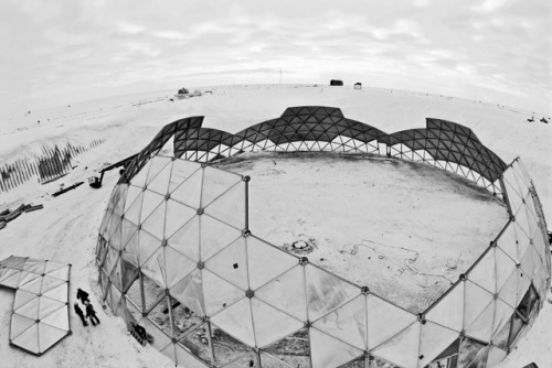 South Pole, Geodesic Dome ( Buckminster Fuller )1975 - 2009 Photo Credit: Forest Banksvia { antarcticsun }