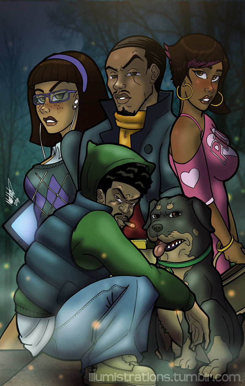 (African American) Scooby Doo Detective Agency, Original artwork. This has been sitting on the hard drive for what seems like forever in WIP (work in progress) territory, so I thought that I would resurrect it and finish it….finally.