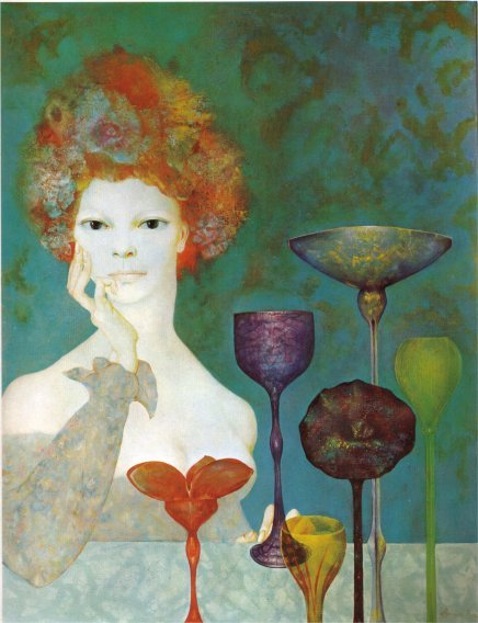 paperimages:  Leonor Fini  (Argentine surrealist painter, 1907 - 1996) The Guardian of Sources
