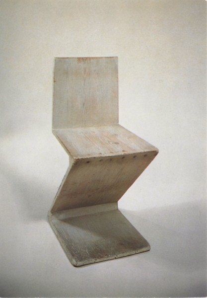 architectureofdoom:  on-chairs:  Rietveld  Zig Zag Chair prototype, 1932