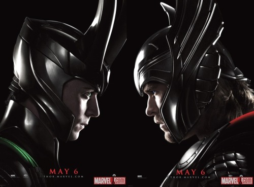 Thor and Loki show off their profiles in 2 new Thor movie posters, available at the Marvel booth at Wondercon! (Marvel.com)
