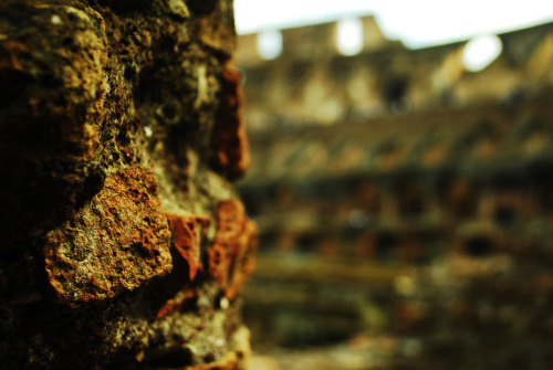 A small piece of the Colosseum.