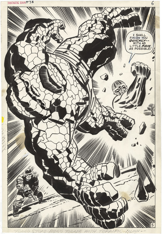 (via What if Kirby : Gallery of Comic Art by Jack Kirby : Fantastic Four, Issue 93, Page 5)