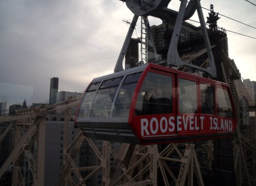 """we'll meet in the middle"" east river, roosevelt island tram"