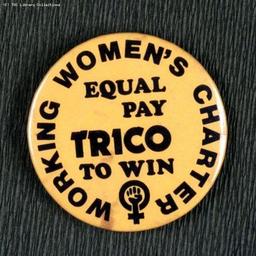 via Union History In 1976, there was an equal pay strike at the Trico-Folberth windscreen wipers factory at Brentford Middlesex. The women organised by the Amalgamated Union of Engineering Workers, were out for 21 weeks before winning their demand to be paid the same basic rate as the men.