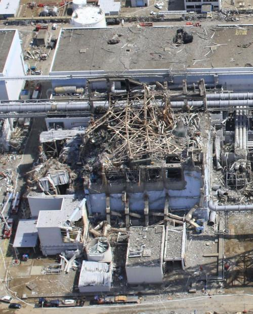 Hi-rez photos of Fukushima Nuclear Power plant. More photos here. Meanwhile, decommissioning and dismantling the plant will take over 20 years, here.