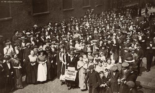 via Union History In the summer of 1911, 15,000 women in Bermondsey, South London came out on strike against low wages and bad working conditions in the district. Thirty firms, including a number of jam and biscuit factories, were affected by the strike. The National Federation of Women Workers moved all available staff into the area to help organise the women and the Women's Trade Union League launched a financial appeal. Many concessions were obtained and at Pinks' jam factory, the wage rose from 9 to 11 shillings per week.