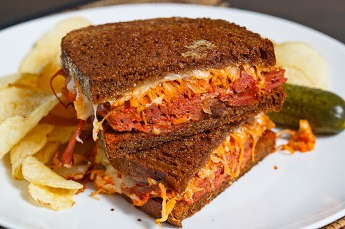 """Kimchi Reuben Sandwich"" Click photo for recipe!"