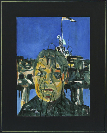 Gunter ChristmannEye witness, 1989 oil on canvas 84 x 66cm VIA