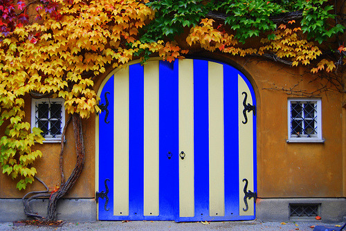 themagpieslair:  Striped door (by aremac)
