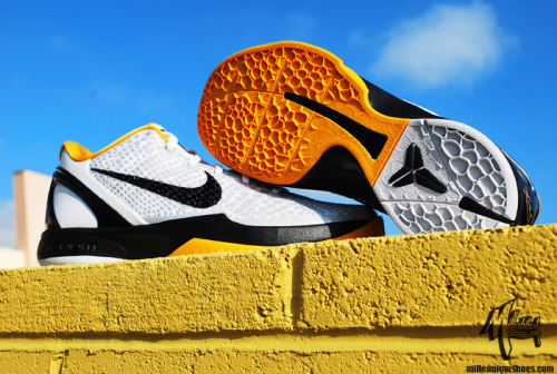 "Nike Zoom Kobe VI POP - White/Black-Del Sol-Neutral Grey - Stands for ""Playoff Package"". The Del-Sol seems to be the Mamba's favorite colorway."