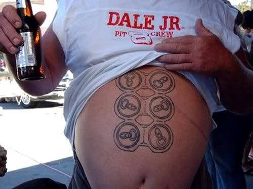 Pretty soon this guy is going to have to upgrade to a 12 pack.