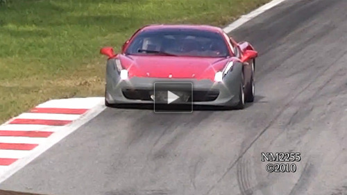 Ferrari 458 Challenge testing at Monza, Italy. Watch the 720p video here.