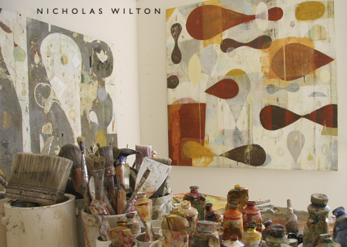 artpropelled:  Nicholas Wilton's studio