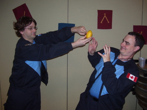 How about some Stargate Cosplay? Zelenka attempts of get McKay to see things his way.