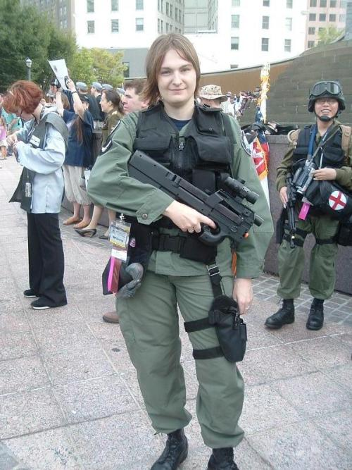 More Stargate Cosplay. Me, circa 2007. I don't think I was too happy with/about who was taking this photograph, which would explain the look on my face.
