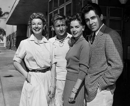 Natalie Wood with Nan Leslie, Nick Adams, and Perry Lopez