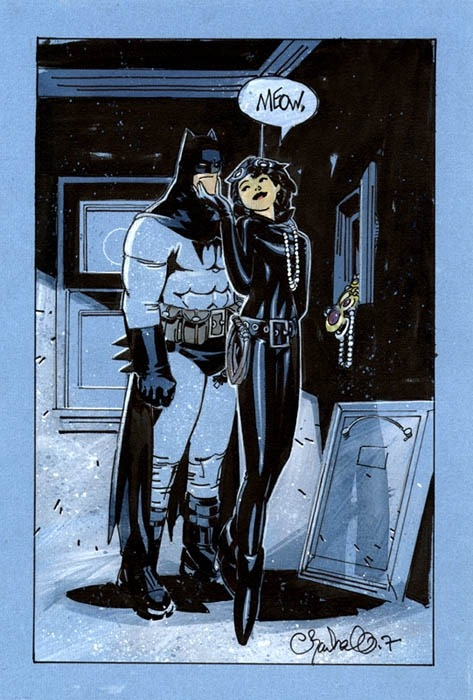 fumettidccomics:   Batman & Catwoman by Chris Bachalo  ,