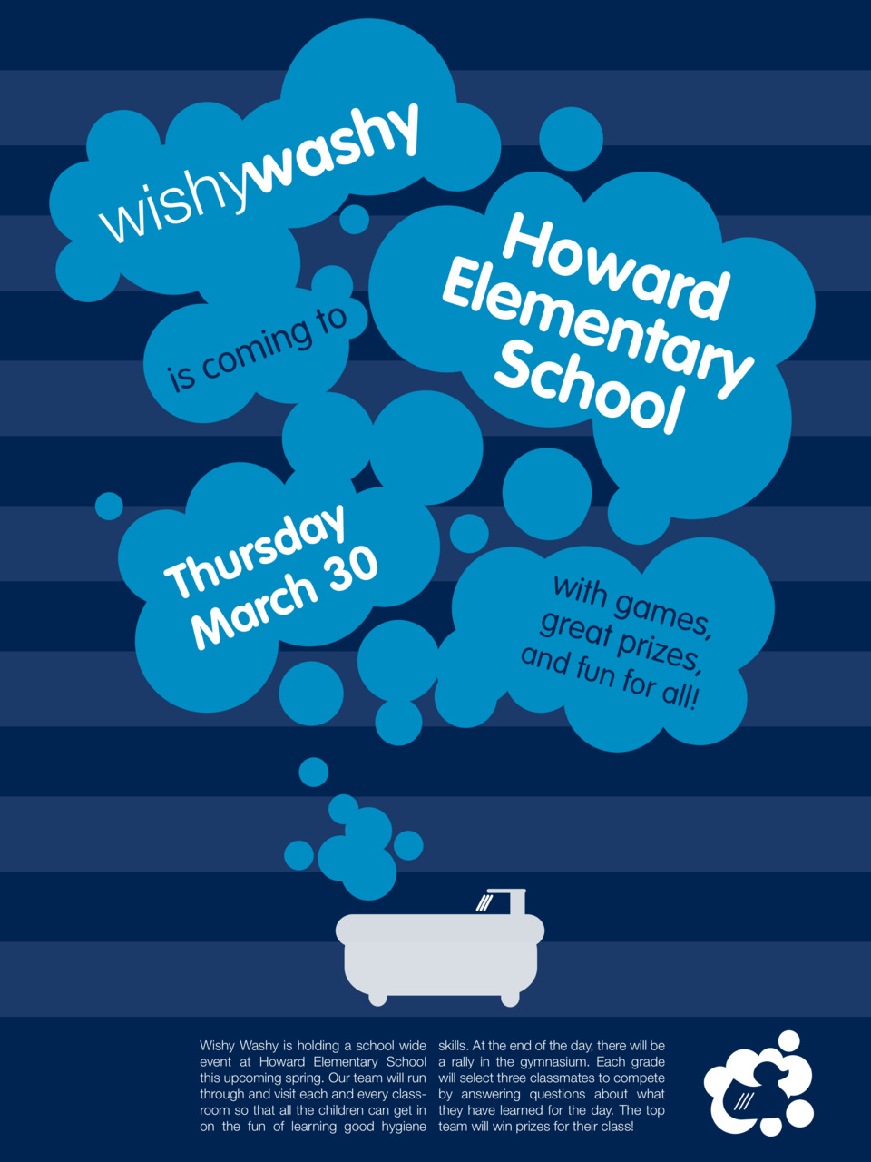 Several poster variations for the fictional non-profit group Wishy Washy. It is geared towards children. I'm still deciding as to which works best.