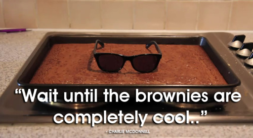 'Wait until your brownies are completely cool'