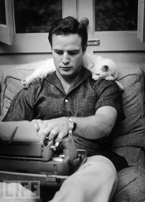Just an average day at the office for Mr Marlon Brando