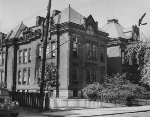 The original Siebert Street Elementary School stood in German Village at 385 Reinhard Ave. in the same spot as it's namesake. It was deemed a fire hazard by Columbus City Schools and replaced in 1976. shown below: (1) the original Siebert Street Elementary being replaced by it's successor and (2) the new Siebert St. School today.  If anyone has additional photos or information about the original Siebert Street School, feel free to share! first photo courtesy of the Columbus Citizen Journal / second and third, http://www.ohio.edu/people/cookt