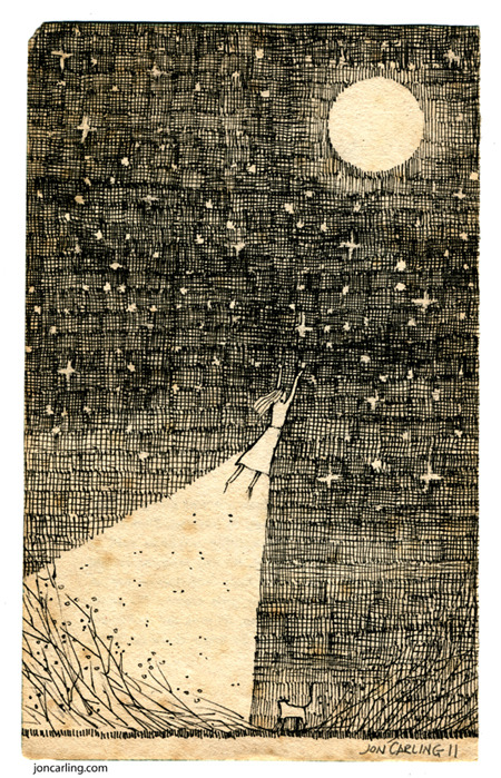joncarling:  'Lunar Cult'  just had some stickers made of this drawing, available soon!