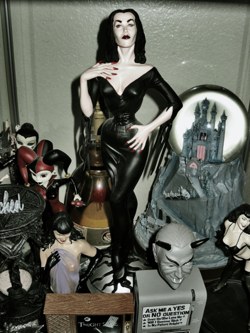 My Vampira statue- if you're a fan you really need this. It's huge and awesome.