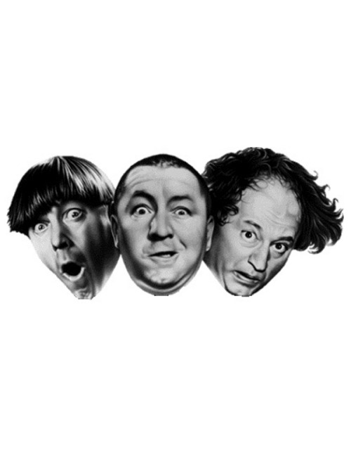 Larry, Curly and Moe of the Three Stooges via User Request