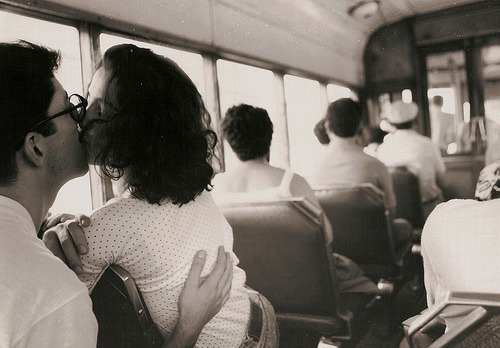 cations:  (by Roby1kenobi)  kissing on the train. ridiculous. cute.