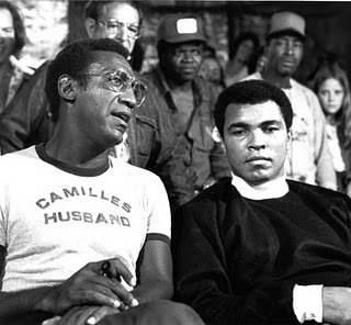 thequeenscastle:  Camille's Husband & Muhammad Ali!  Bill Cosby's shirt is beyond fresh…  Lol love this