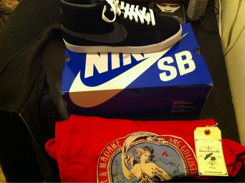 Nike SB Blazers (Boundless NY) Brooklyn Circus V-neck shirt Finally got to go to The Brooklyn Circus and met the owner and some of the workers. I felt like they're were going to be stuck up like the people at Supreme but they were some of the most down-to-earth people I've ever met.