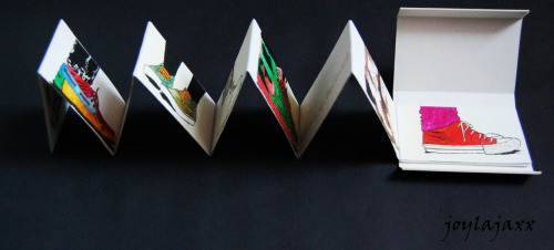 Took about ten weeks to plan and make my final project..the concertina book and the stop motion video. ITS ALL OVER NOW