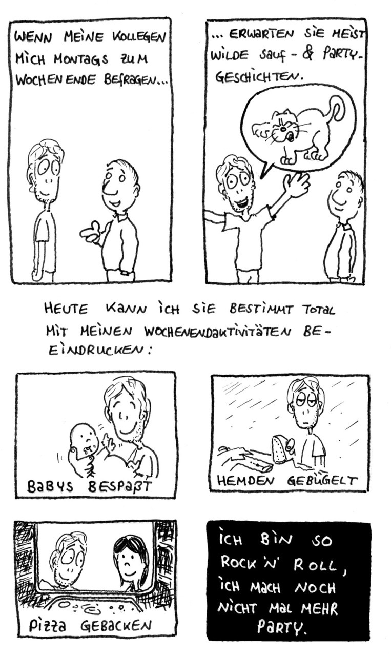 Selbstportrait, Arbeiten, 4.4.2011: I'm the last rock'n'roll super hero.
