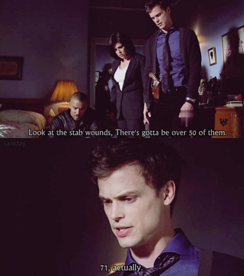 that awkward moment, when… [Criminal Minds]