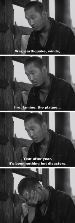japan film movie kurosawa disaster catastrophe chaos violence murder
