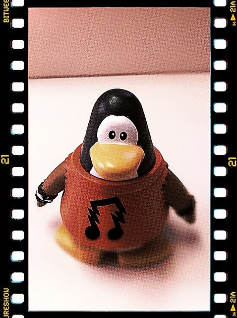 Club Penguin Rock Star (Taken with picplz.)
