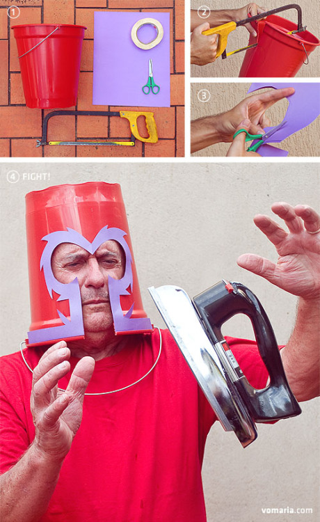 robotindisguise:  Magneto Helmet My to do list today consisted of getting up at some point. Now that list has doubled after this find.