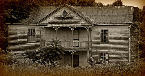 abandonedcity:  Abandoned house (by ariel is…)