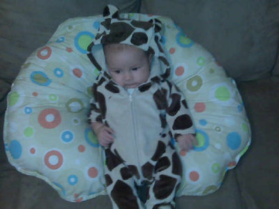 My baby bun, dressed as his power animal the giraffe! Submitted by todayisinthepast