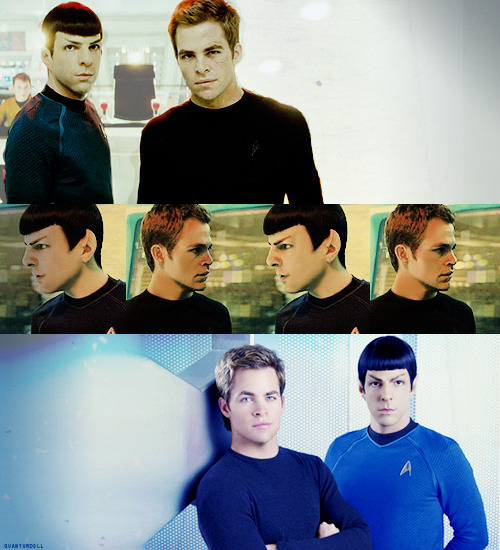 James T. Kirk:  I'm coming with you. Spock: I would cite regulation, but I know you will simply ignore it. James T. Kirk:   See? We're getting to know each other.