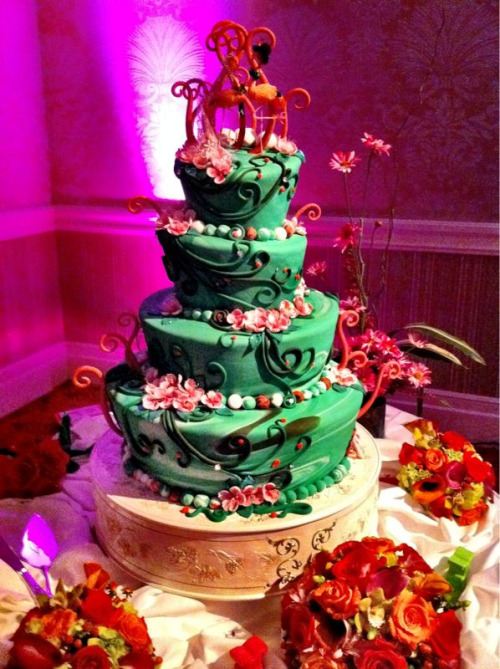 Amazing cake at the wedding I attended last night